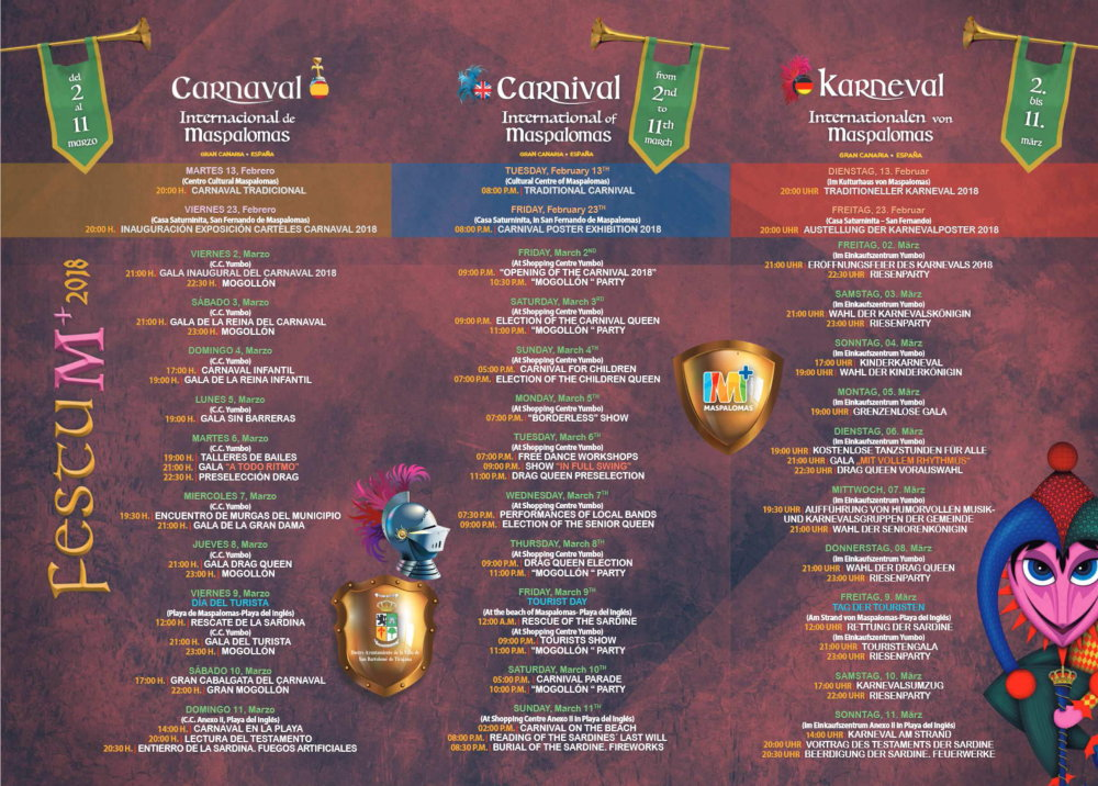 Programm Karneval International der Maspalomas 2018